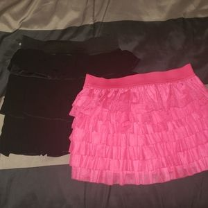 Lot of 2 girls size 10 skirts